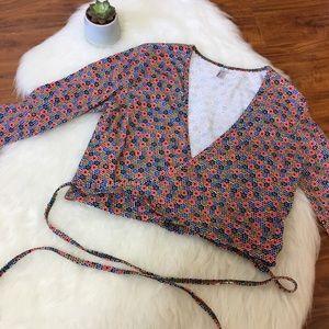 American apparel wrap-around crop top
